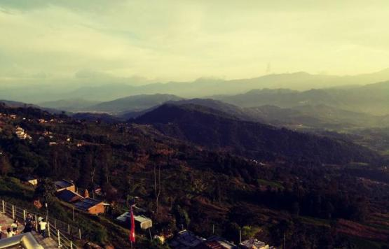 Hill Range Seen From Nagarkot